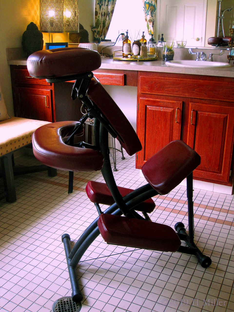 Chair Massage For Elderly Nursing Home Residents In The Spa